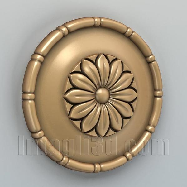 Розетка круглая 001